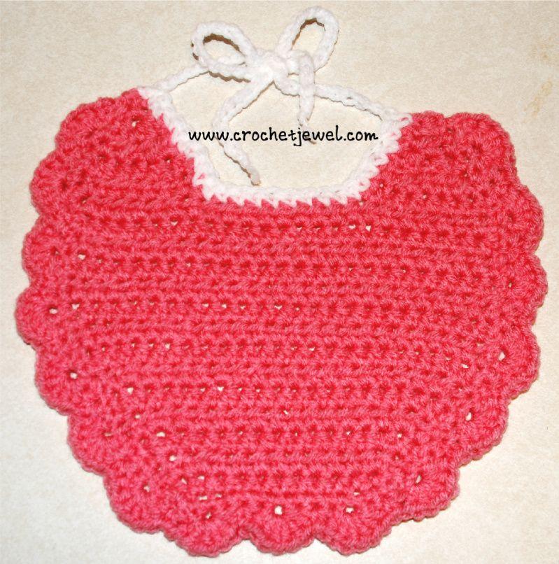 Crochet Baby Bib, http://crochetjewel.com/?p=13369 | Tejidos crochet ...