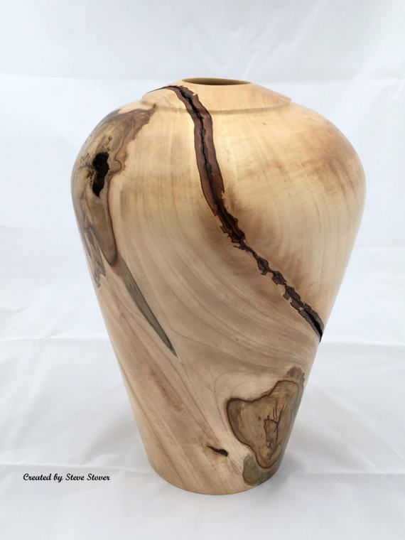 Large Ambrosia Maple Hollow Vessel Spectacular One Of A