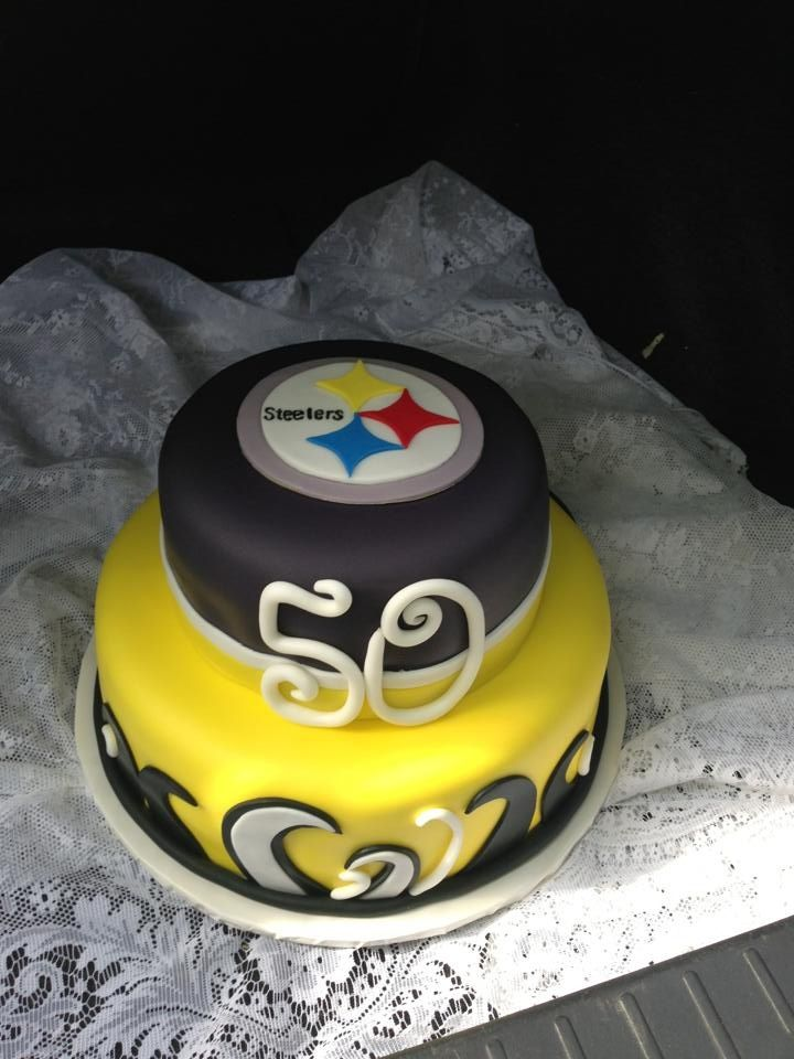 Terrific Steelers Cake With Images Cake Cupcake Cakes 50Th Birthday Cake Funny Birthday Cards Online Fluifree Goldxyz