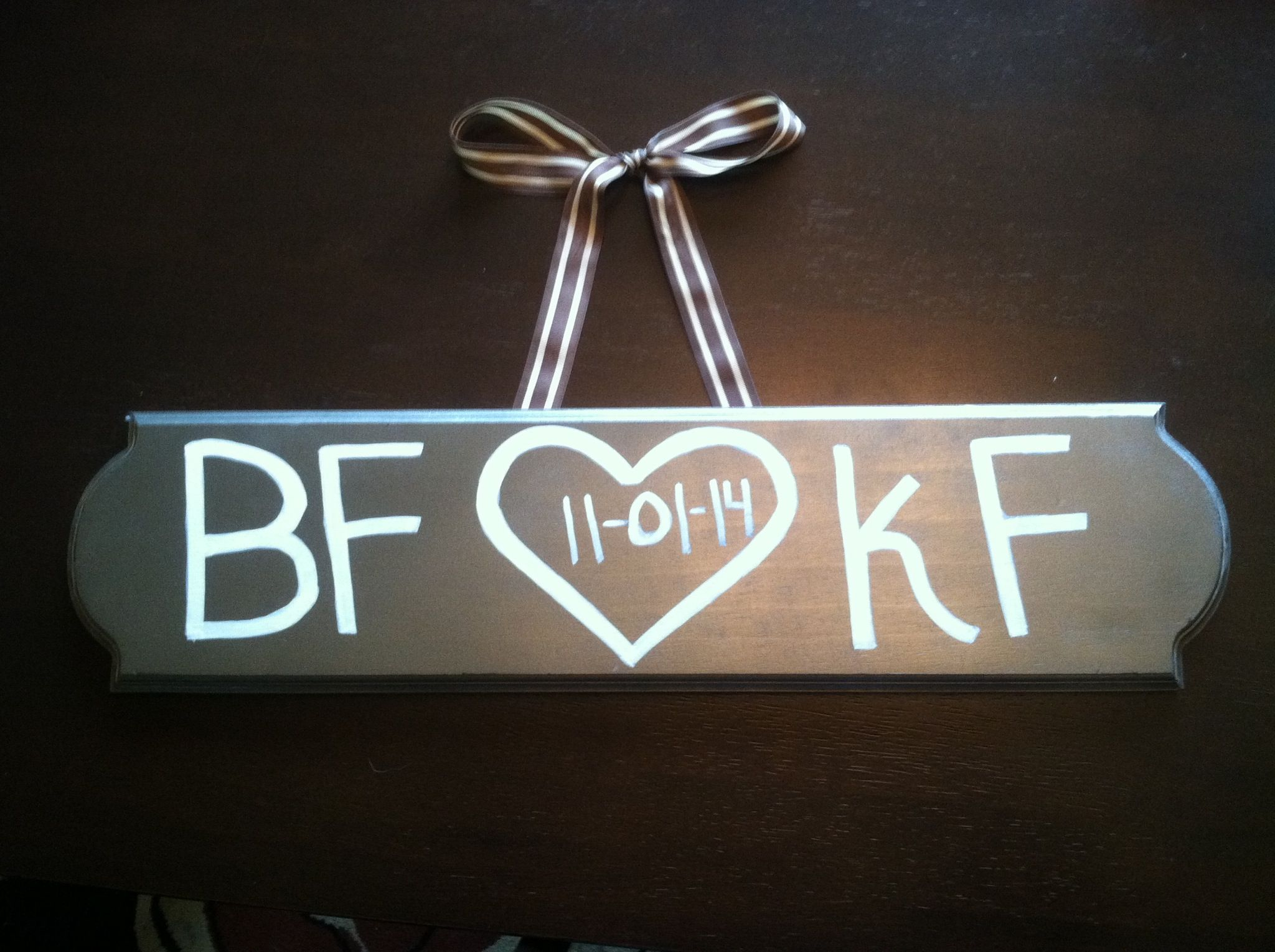 Semi rustic wood sign for wedding gift simple yet unique love it