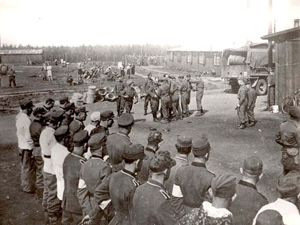 Bergen Belsen Death Camp Germany Ss Men Before They Were