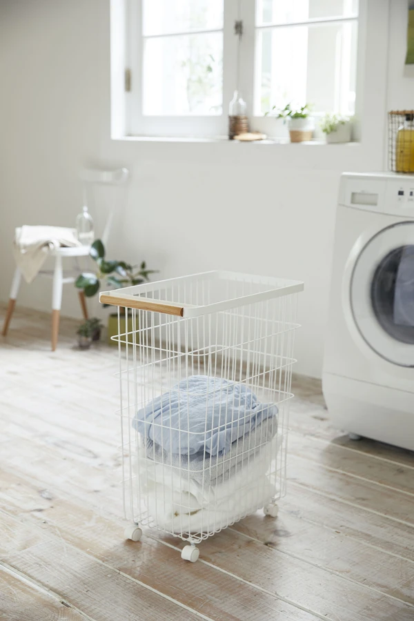 Yamazaki Home Official Site Laundry Baskets In 2020 Rolling