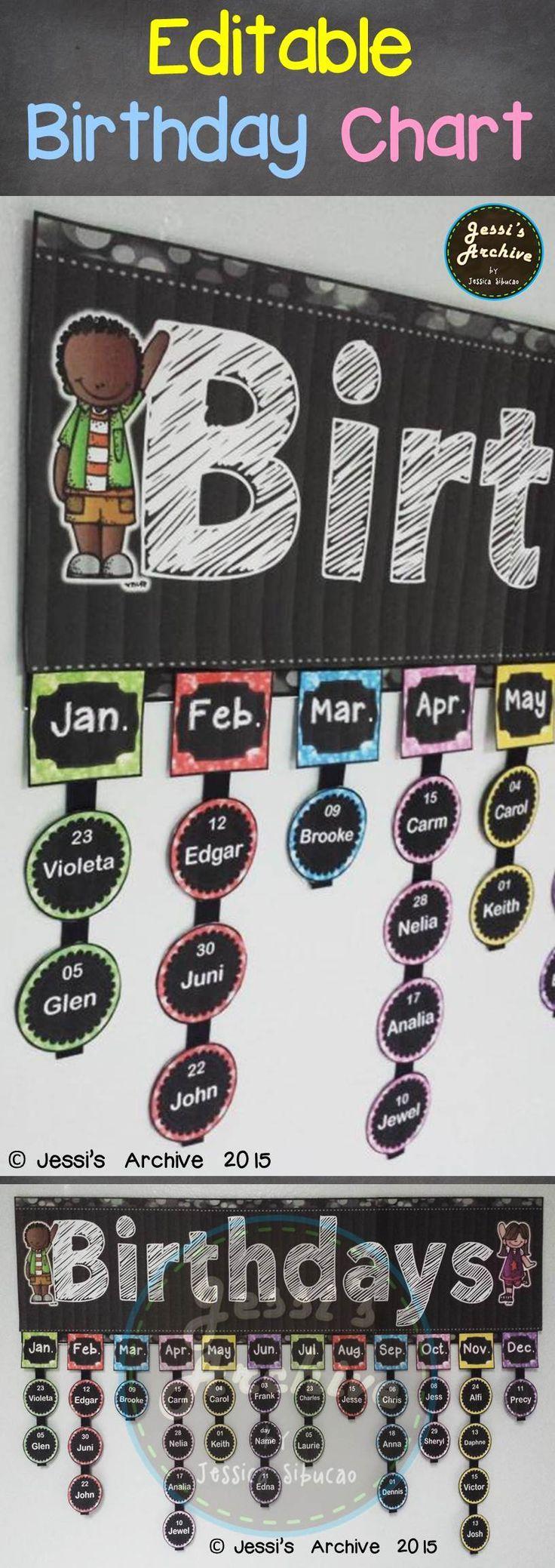 Birthday Chart Birthday Board Classroom Classroom Birthday Birthday Charts