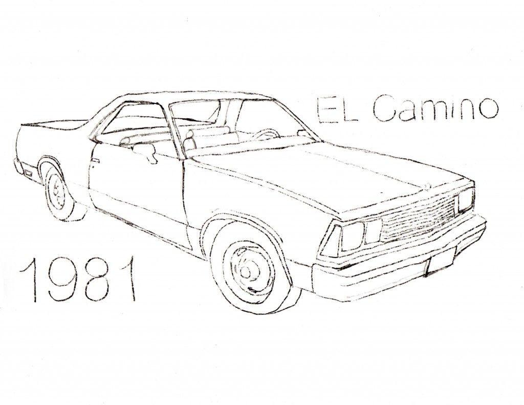 El Camino Car Coloring Pages Coloring Pages