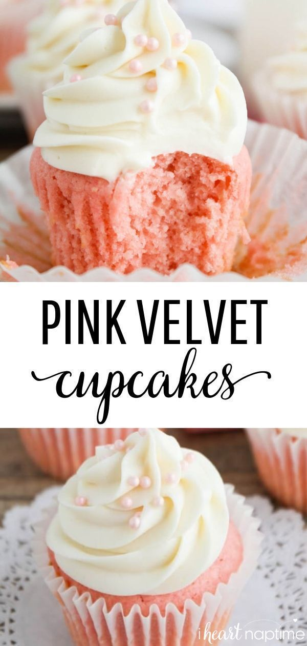 Cupcakes – These velvety smooth one-bowl cupcakes are delicious and easy, too! Perfect for Valentine's Day or any day! Desserts Pink Velvet Cupcakes