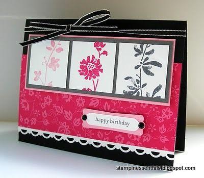 Stampin Up Happy Birthday Card Using Pink Pirouette Melon Mambo