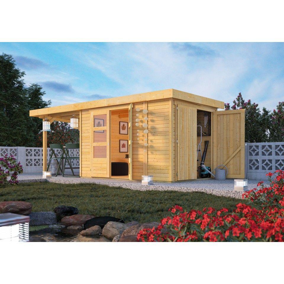 Karibu Woodfeeling Gartenhaus Retola 2/3/4/5/6 inkl