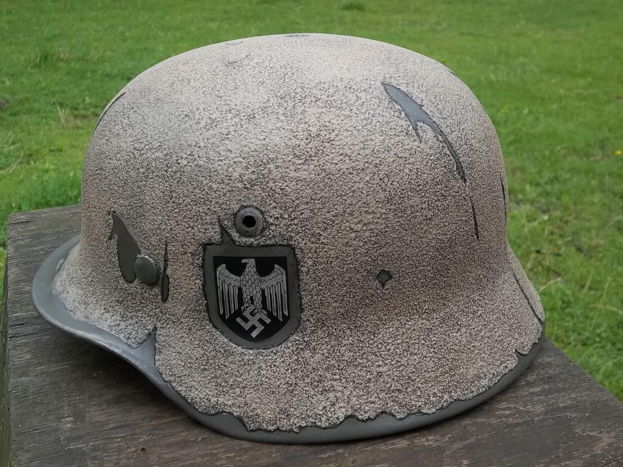 Wwii german helmet m35 africa corps ef66