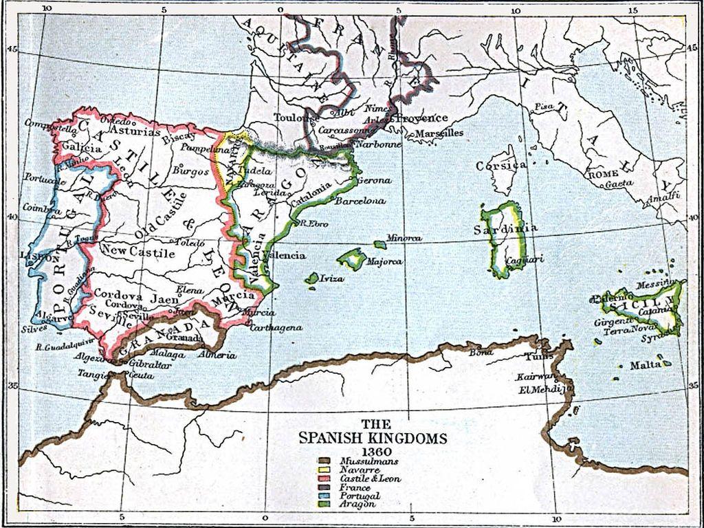 Formación Territorial De España Mapa De España España Mapas