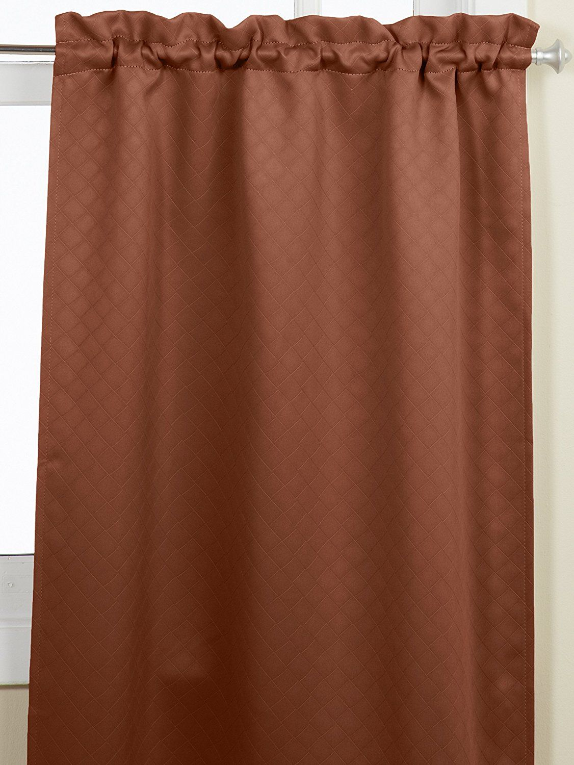 36 Inch Room Darkening Curtains Lorraine Home Fashions Facets Room Darkening Blackout Tier Curtain