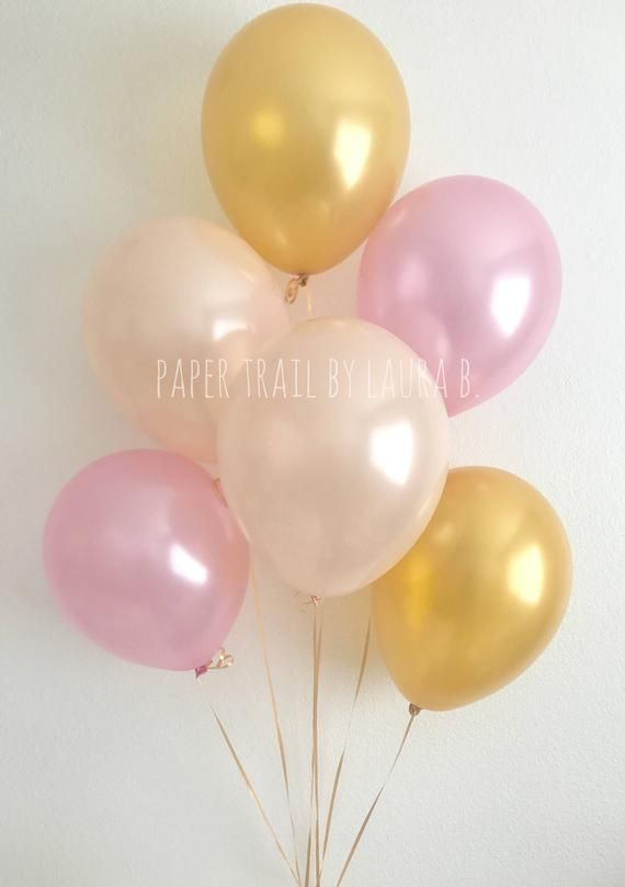 Little Pumpkin Balloon Bouquet in Peach, Pink and Gold Metallic. Our Little Pumpkin is One. Pearl Latex Balloons. Baby Shower Decor. 6CT