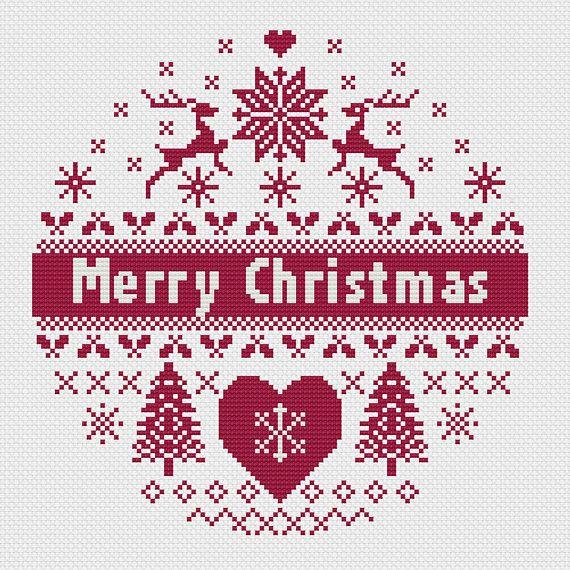 Scandinavian Christmas Cross Stitch Pattern Pdf Instant Download Scandi Style Christmas Cross Stitch Christmas Circle Cross Stitch Patterns Christmas Christmas Cross Stitch Christmas Cross