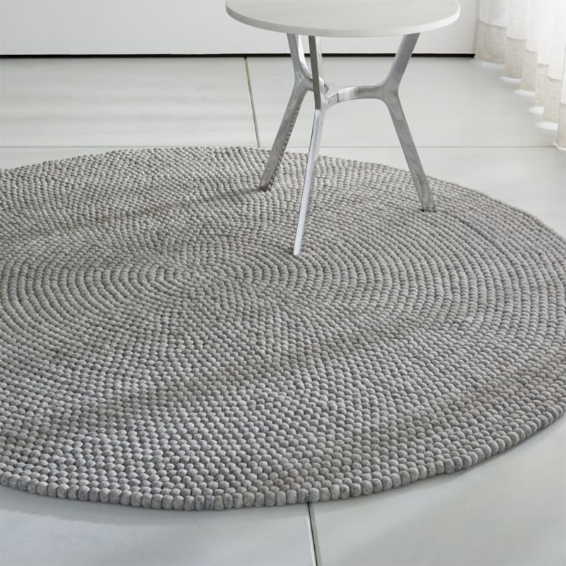 Round Grey Rug Rugs Ideas
