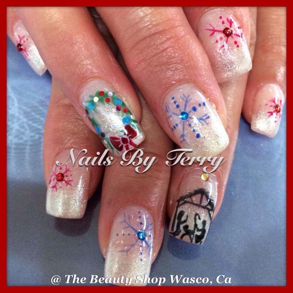 Christmas Nails | Christmas nails | Pinterest | Winter nails, Nail ...