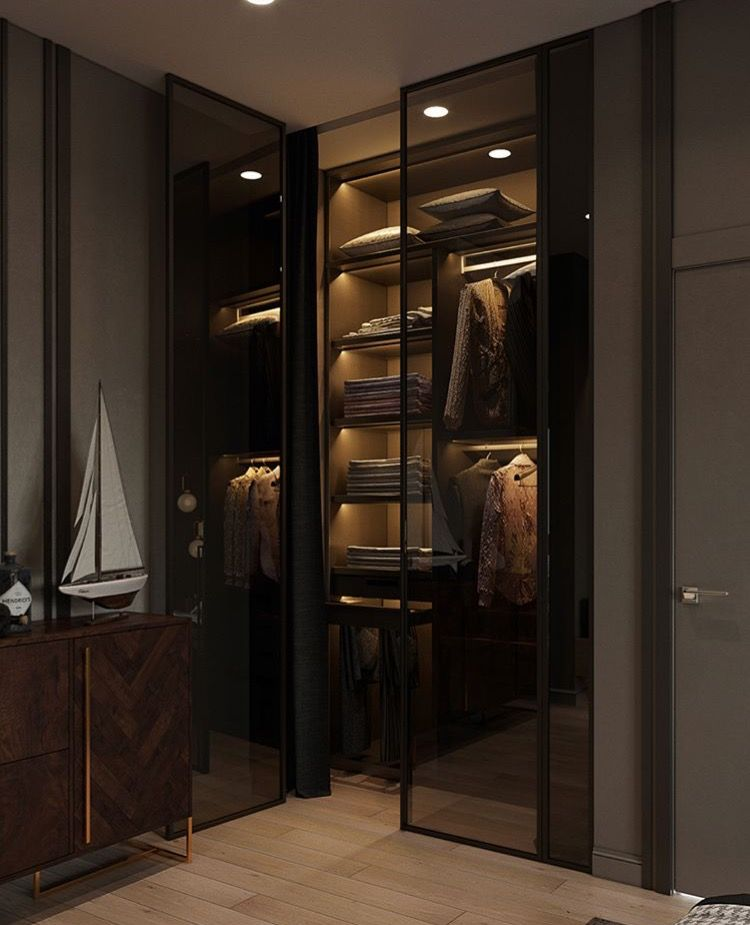 Pin By Homethangs On Dei Res Vestidor Y Closet Dressing Room Design Room Interior Design Glass Wardrobe