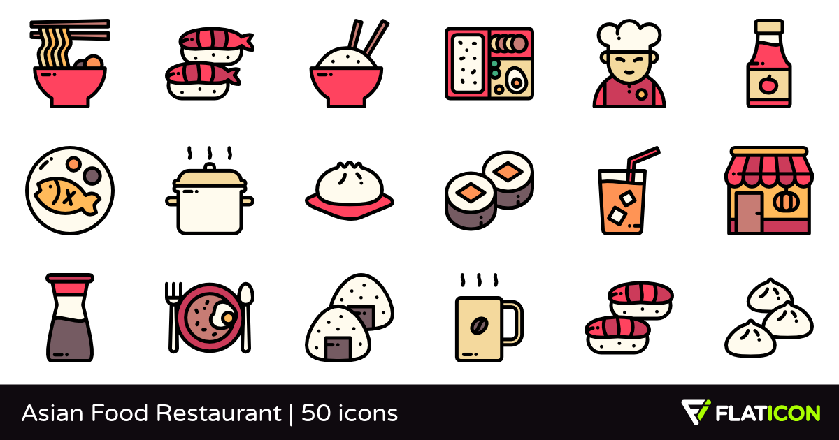 50 free vector icons of Asian Food Restaurant designed by