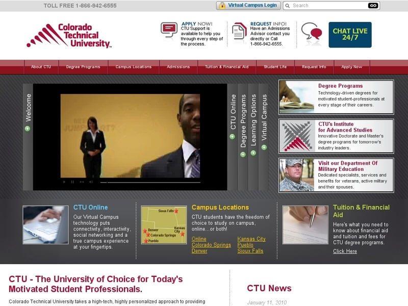 Colorado Technical University (CTU) is a for-profit