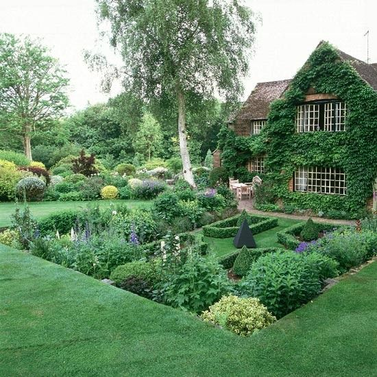 Formal planting for Gardens Clipped topiary striped lawns