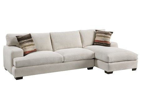 Warren Collection Cream Chaise Sofa