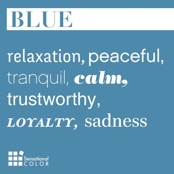 Words That Describe Blue Sensational Color Color Meanings Blue Words Color Personality
