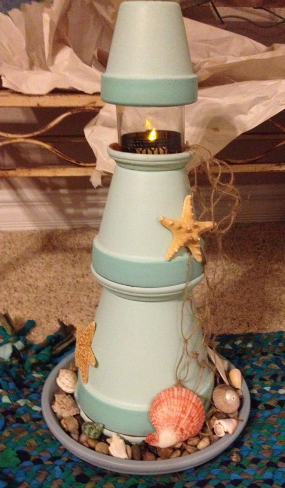 Tiffany's terra cotta beach lighthouse mother's day gift ... on