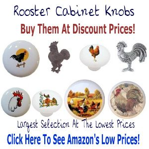 Kitchen Cabinet Knobs And Pulls - Rooster Cabinet Knobs | kitchen ...