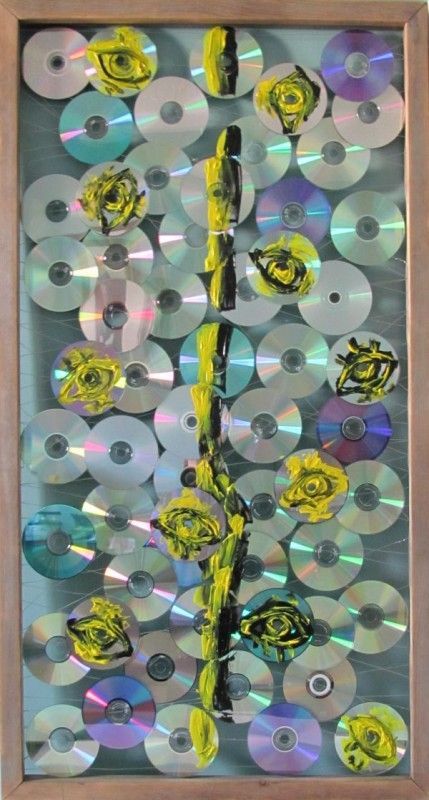 I-division: Used Cd's Assemblage | Share Today's Craft and DIY Ideas