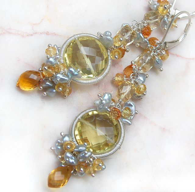 ~ The Etincelle Earrings ~ by Modeste Parisienne, via Flickr