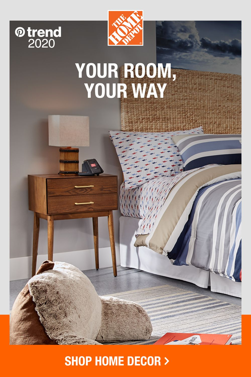 Shop on-trend bedding, furniture and home decor at The Home Depot. Make  your room your own with a variety of options t… in 2020 | Home decor, Home,  Farmhouse style bedrooms