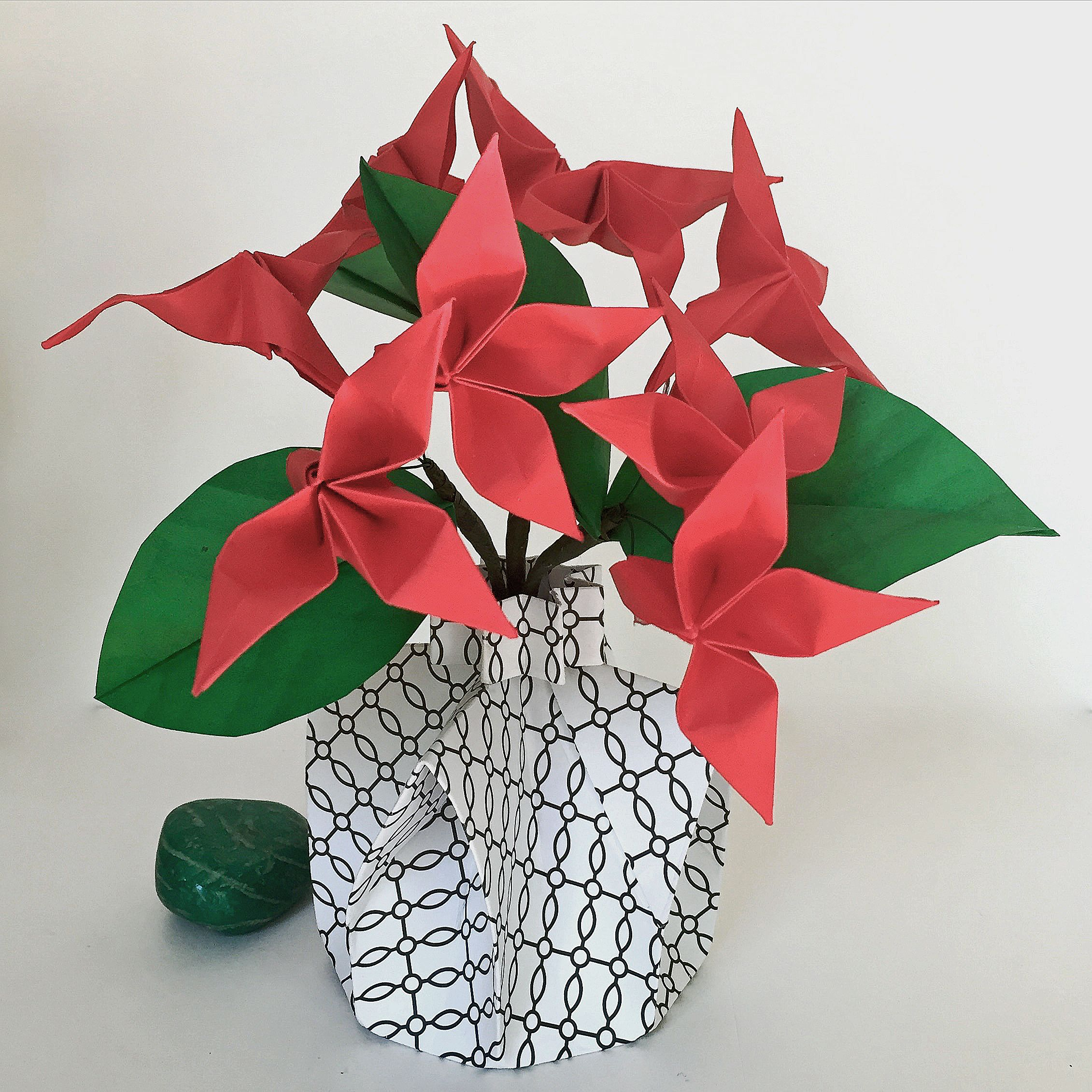 1999 Small Origami Flower Arramgement Make Everything Look
