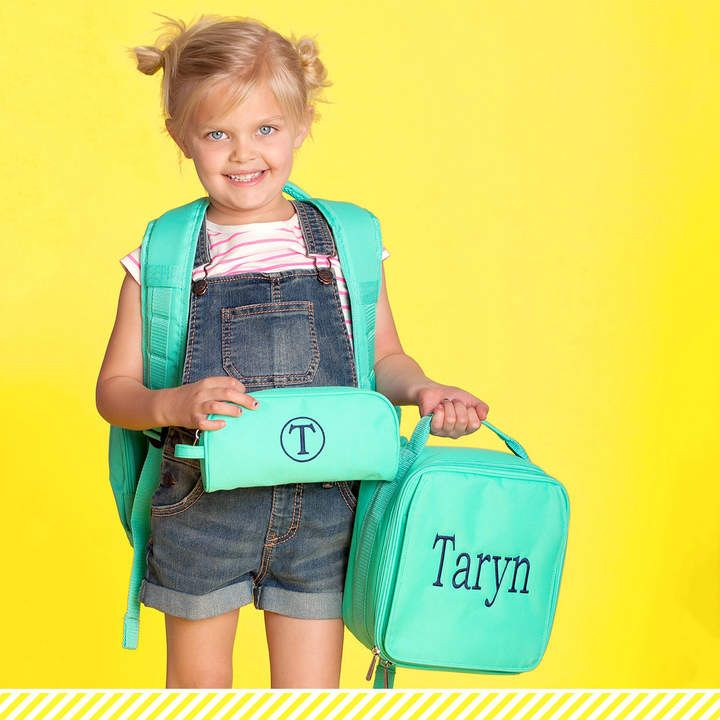 Etsy Monogrammed Backpack Personalized Book Bag Solid