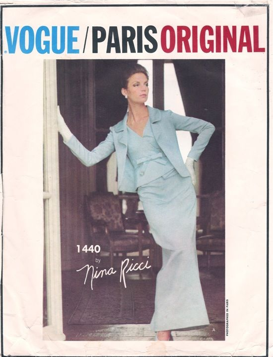 Nina Ricci - Featured in Vogue Pattern Book April/May 1965