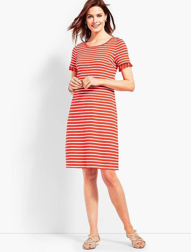 Talbots dresses for weddings  Tassel Trim Striped Shift Dress  dresses  Pinterest  Talbots