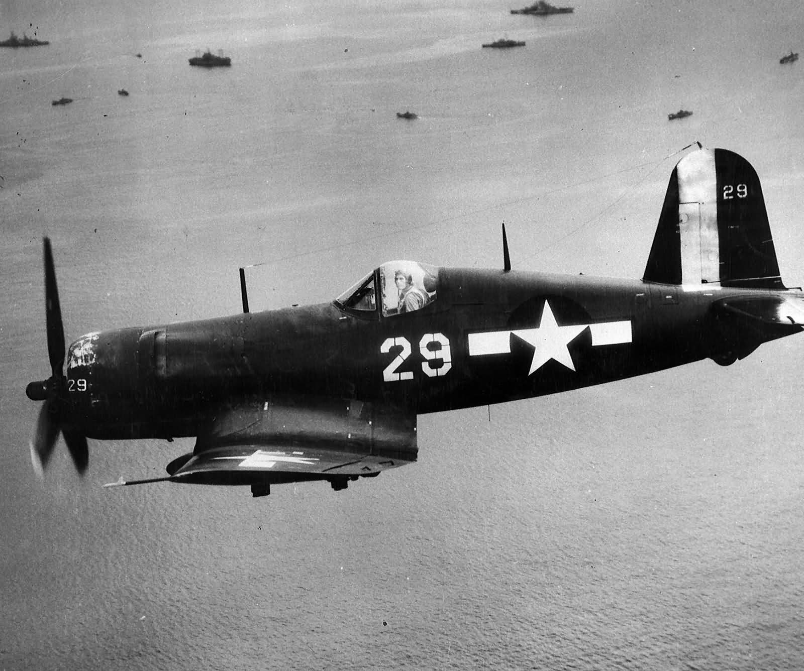 F4U-1D Corsair 29 of VBF-10 USS Intrepid CV-11 Okinawa ...