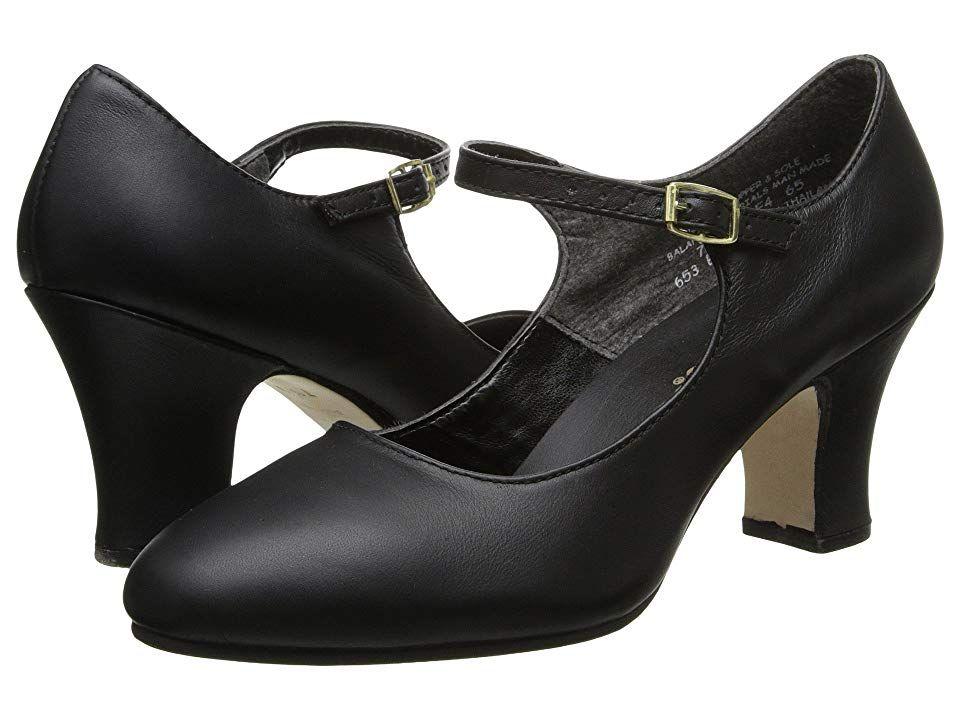 99e3df66a1a9 1930s Shoes History Capezio - Manhattan Character Shoe Black Womens Tap  Shoes  76.00 AT vintagedancer.com