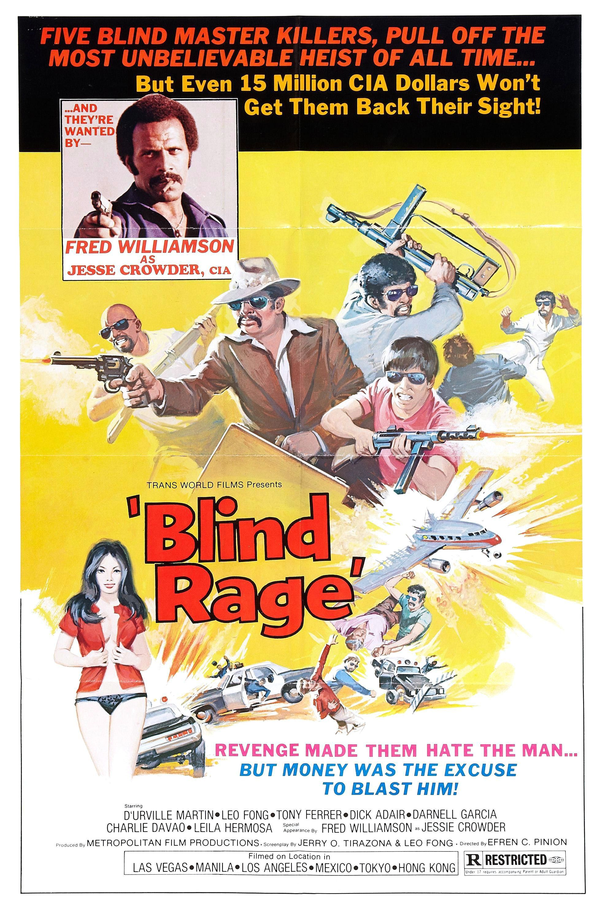 Blind Rage (1978) | Grindhouse movie posters of the 1960's