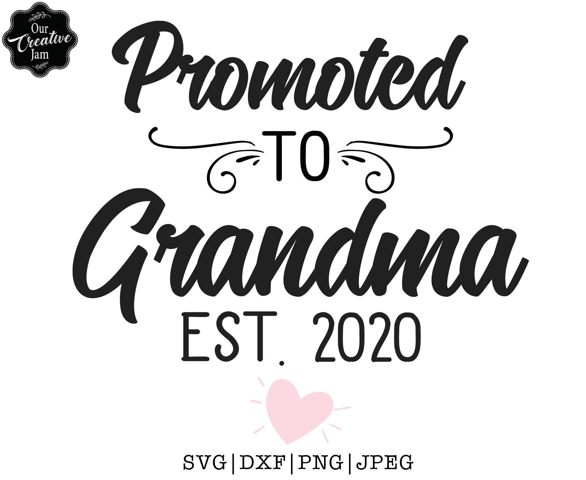 Download Promoted to Grandma EST 2020 future grandma svg new | Etsy ...