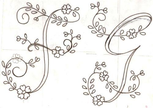 Letras Para Bordar A Mano Patrones Imagui Bordados Pinterest