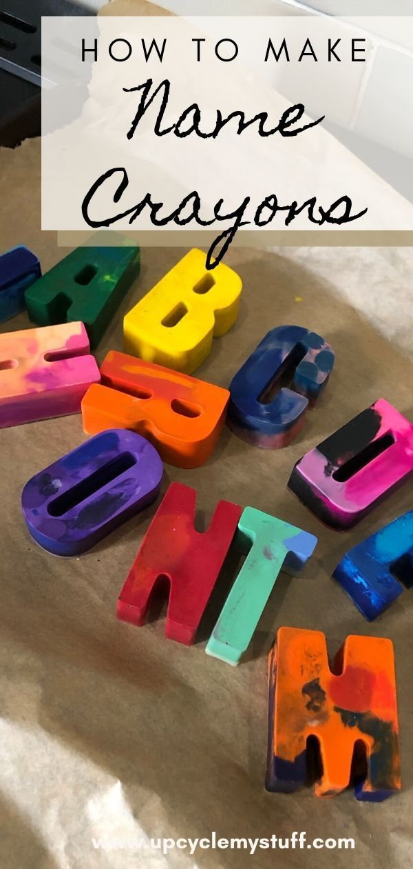 How to make Personalised Name Crayons  - Easy DIY -   19 diy Gifts for children ideas