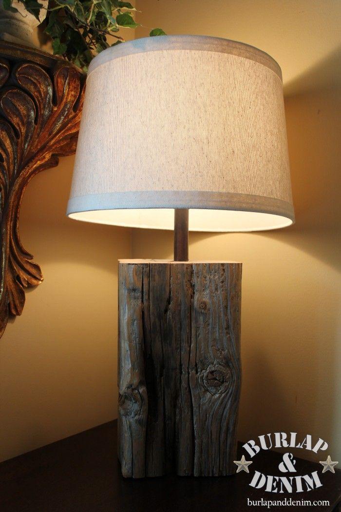 Wood Block Lamp Tutorial Diy Time Diy Living Room Decor