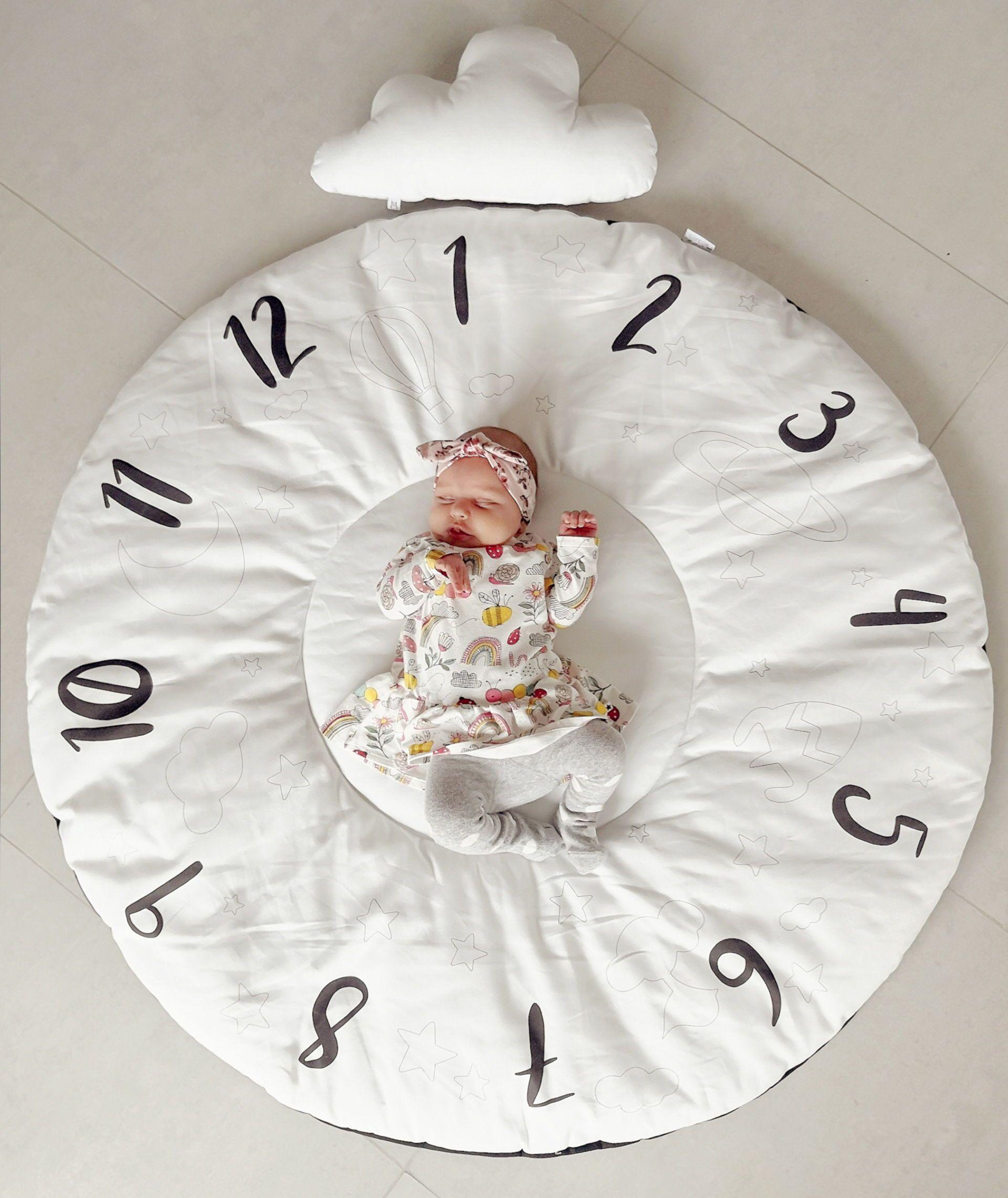 Round Milestone Play Mat Baby Gym