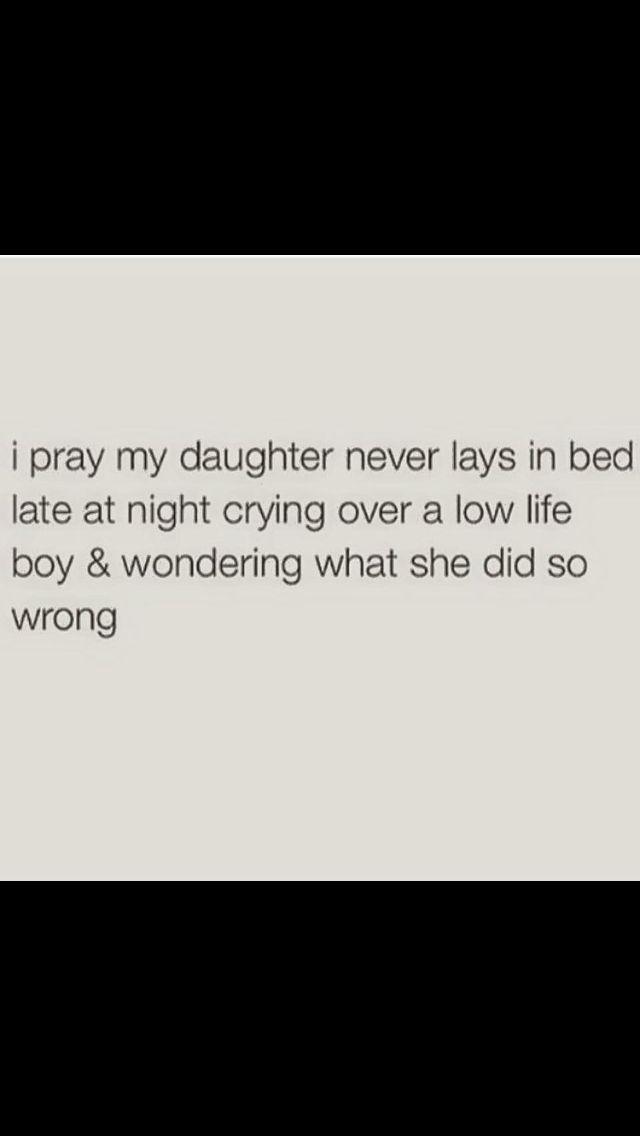 I pray she don't