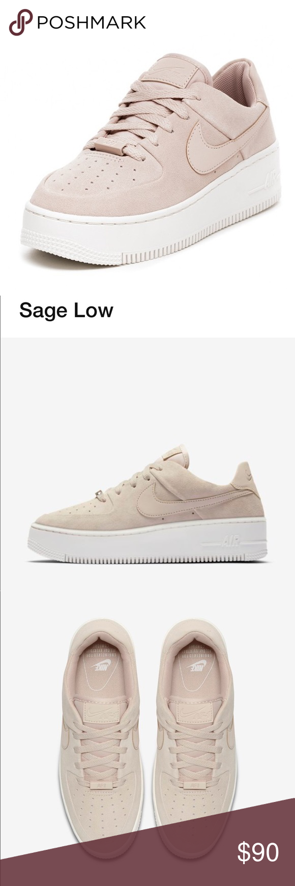 0d1566d1931 Nike Air Force 1 Sage Low only worn twice womens size 6