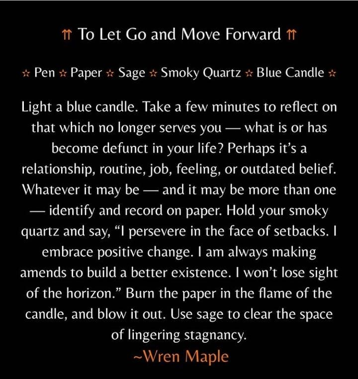 """@mysticwitchofthemoon's Instagram post: """"Let go of"""