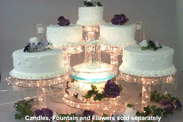 lighted wedding cake fountain lighted cake stand set nothing compares to going the 16863