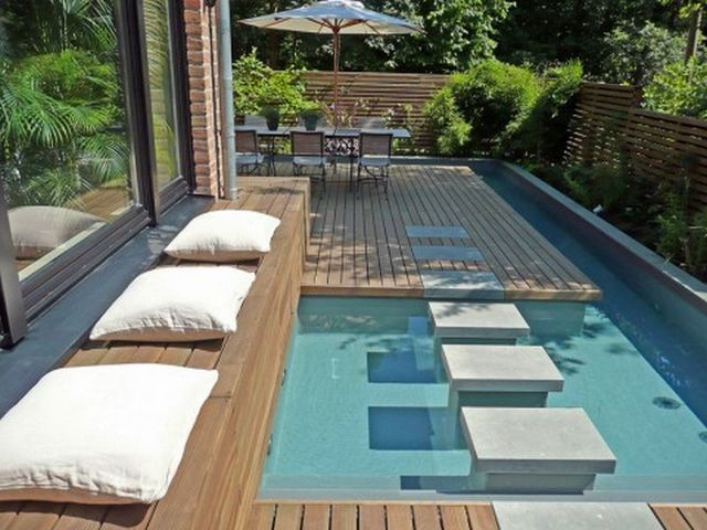 swim+spa+in+a+small+space | Small swimming pools pictures | My Next on small backyard patio landscaping ideas, cool backyard pool ideas, geometric backyard pool ideas, modern landscape backyard with pool, tropical backyard pool ideas, modern garden design pool,