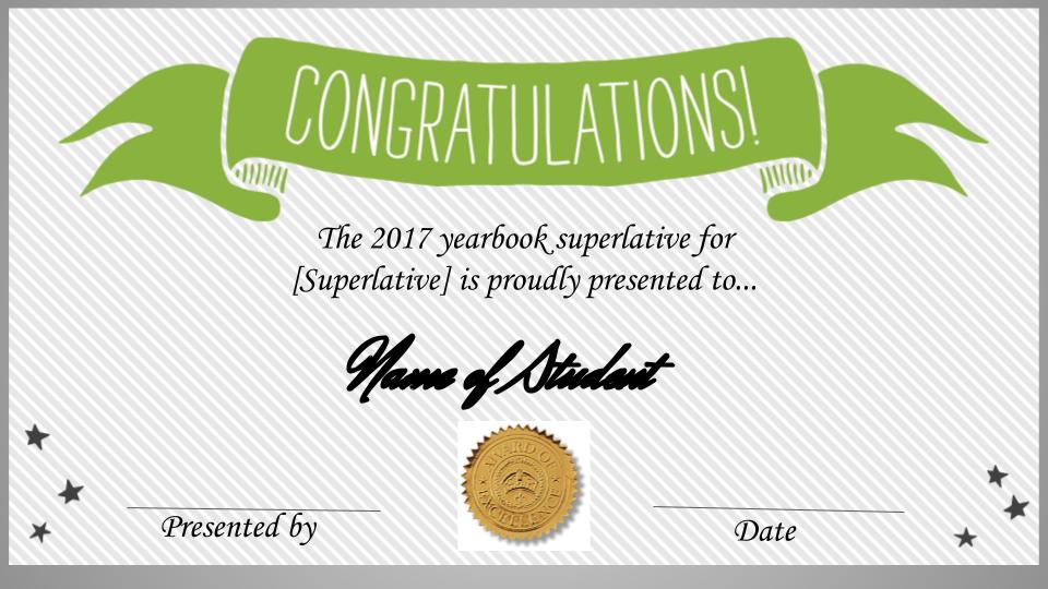 Superlative Certificates Template Updated Treering Newspaper