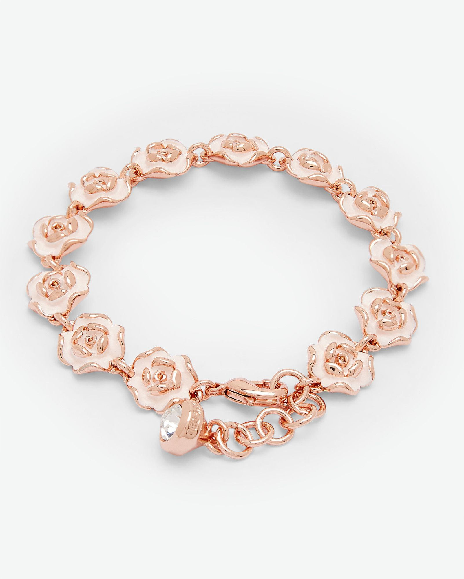 Enamel Rose Bracelet Baby Pink Jewellery Other Europe Site