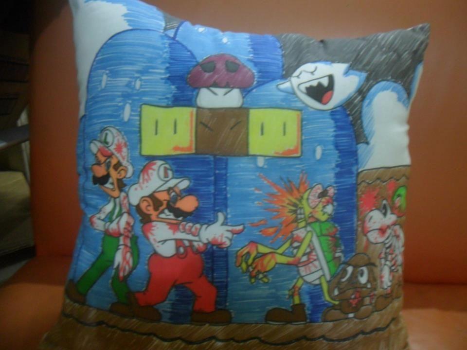 Almofada Super Mário Zombie