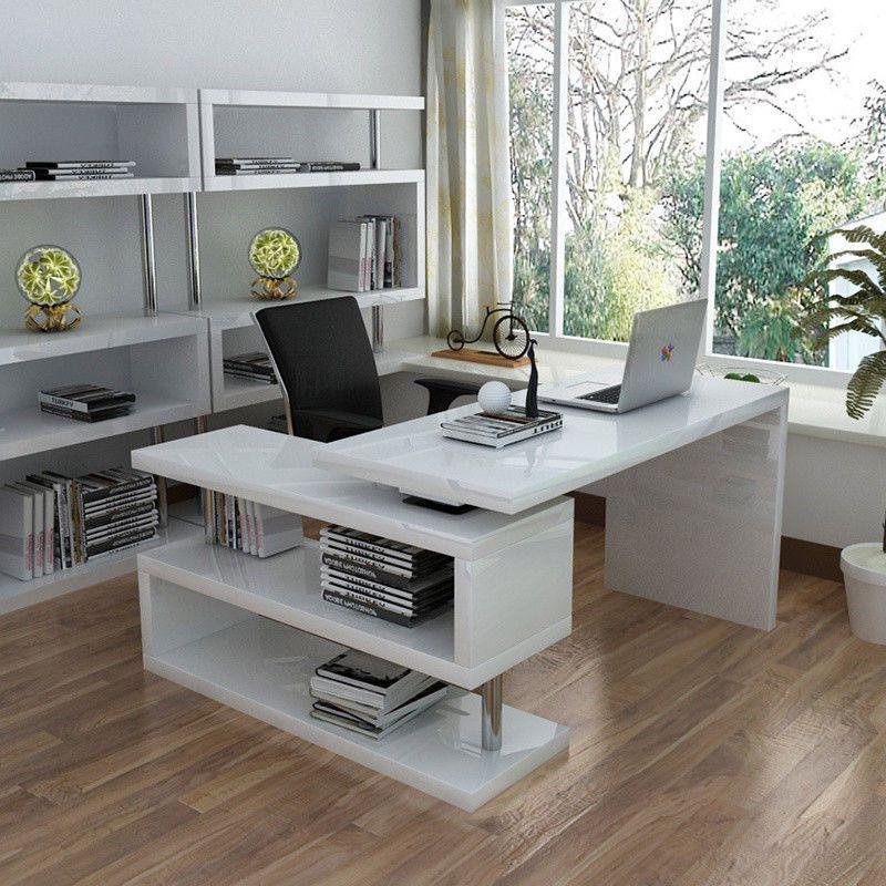 L Shaped Computer Desk Compact Laptop Pc Table Home Office Study Corner Desks Uk Computer Desks For Home Corner Computer Desk Computer Desk
